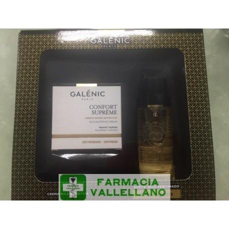 GALENIC PACK CONFORT SUPREME CREMA RICA NUTRITITIVA PIELES SECAS 50 ML + REGALO ACEITE SECO PERFUMADO 50 ML