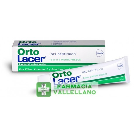 ORTO LACER GEL DENTIFRICO 75 ML MENTA