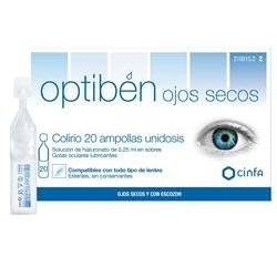 OPTIBEN OJOS SECOS 20 AMPOLLAS UNIDOSIS