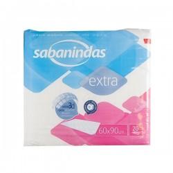 SABANINDAS PROTECTOR DE CAMA. 60X90 20 UNIDADES